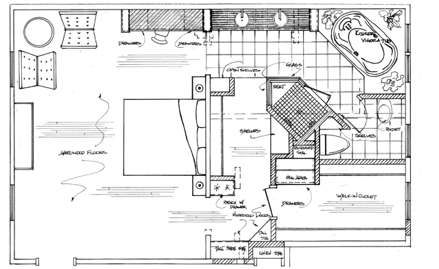 Kitchen and bath concepts our process for Bathroom floor plans
